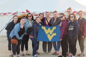 WVU students in Bahrain in the desert